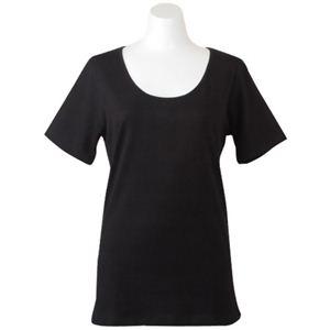 Deol(デオル) UネックTシャツ 女性用 ブラック Sサイズ