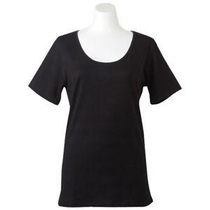 Deol(デオル) UネックTシャツ 女性用 ブラック Lサイズ