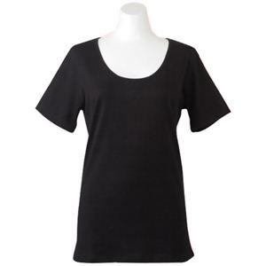 Deol(デオル) UネックTシャツ 女性用 ブラック LLサイズ