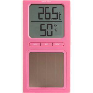 ドリテック ソーラー温湿度計 ピンク O-223PK