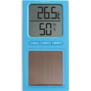 ドリテック ソーラー温湿度計 ブルー O-223BL