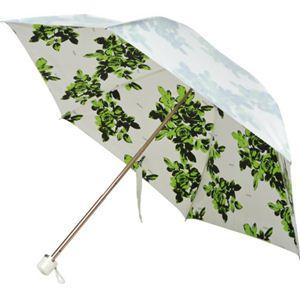 PREMIUM WHITE シャドーローズ ミニ折傘50 グリーン