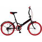 20インチ 折り畳み自転車カラータイヤモデル GFD-20TNRD レッド【送料無料】