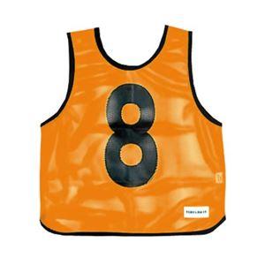 メッシュベスト(1-10) 蛍光オレンジ B-7691V