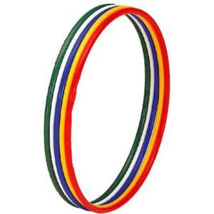 【新体操、障害物競走、マスゲーム、フラフープなどに!】体操リング(5色1組)85 T-178