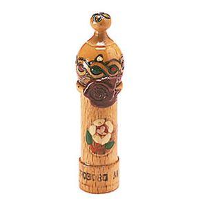 ブルガリアローズ ローズオットー(木彫りのケース入り) 1ml - 拡大画像
