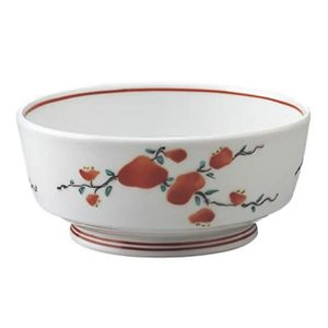 安寿 丸小鉢 赤絵小花