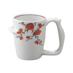 安寿 マグカップ 赤絵小花