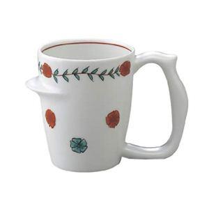 安寿 マグカップ 赤絵唐花