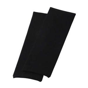 シルク混ゆったり編み薄地レッグウォーマー ブラック - 拡大画像