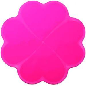 IHクッキングヒーター 汚れ防止シリコーンマット ピンク 2枚入 - 拡大画像