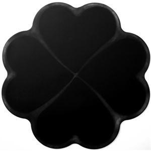 IHクッキングヒーター 汚れ防止シリコーンマット ブラック 2枚入 - 拡大画像