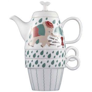 Shinzi Katoh Tea For Two ティーポット&カップ2個組 Elephant C206 - 拡大画像