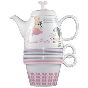 Shinzi Katoh Tea For Two ティーポット&カップ2個組 Friends C209 - 拡大画像