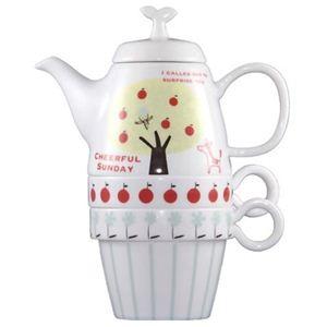 Shinzi Katoh Tea For Two ティーポット&カップ2個組 Sunday C211 - 拡大画像