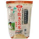 大潟村あきたこまち 早炊き玄米無洗米 1kg 【3セット】