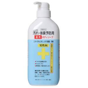 (まとめ買い)からだの汚れ・体臭予防用薬用ボディソープ 男性向 450ml×3セット - 拡大画像