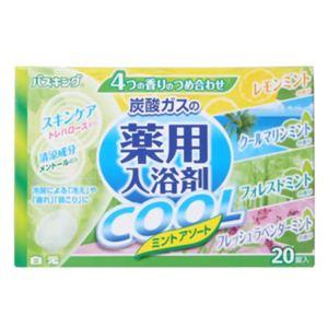 バスキング 薬用入浴剤COOL ミントアソート 20錠 【6セット】