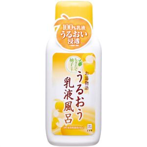 お湯物語 うるおう乳液風呂 ゆずみつの香り 600ml 【4セット】