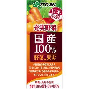 伊藤園 国産100%野菜&果実 200ml*24本 - 拡大画像