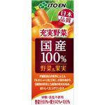 伊藤園 国産100%野菜&果実 200ml×24本