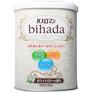 バスロマン BIHADA ホワイトリリーの香り 680g 【6セット】