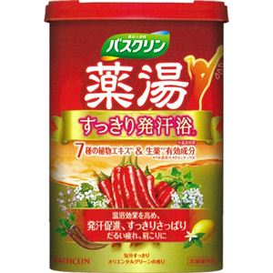 薬湯バスクリン すっきり発汗浴 オリエンタルハーブの香り 600g 【4セット】