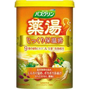 薬湯バスクリン じっくり保温浴 フローラルジンジャーの香り 600g 【4セット】