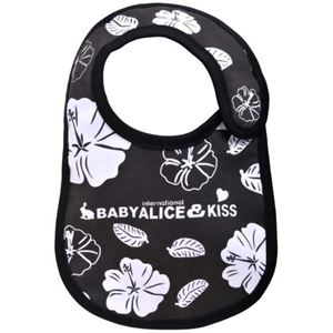 BABY ALICE(ベビーアリス)スタイ ブラックハイビスカス 【2セット】 - 拡大画像