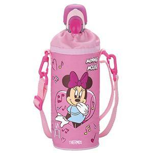 サーモス ペットボトルキャップ&クーラー ディズニー ミニー 500mlペットボトル用 ピンク RDI-500DS P 【2セット】 - 拡大画像