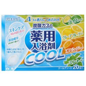 バスキング 発泡薬用入浴剤 クール(アソートパック)20錠入 【3セット】