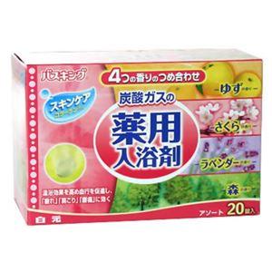 バスキング 発泡薬用入浴剤 ゆず さくら ラベンダー 森 20錠入 【5セット】