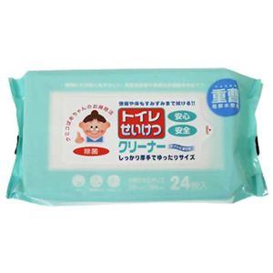トイレせいけつクリーナー タオルサイズ24枚入 【8セット】