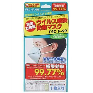 完全立体型 ウイルス感染防御マスクFSC・F99 1枚 【3セット】 - 拡大画像