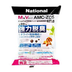 ナショナル/パナソニック クリーナー紙パック AMC-ZC5 【5セット】