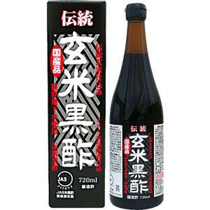 ユウキ製薬 伝統玄米黒酢 720ml 【8セット】