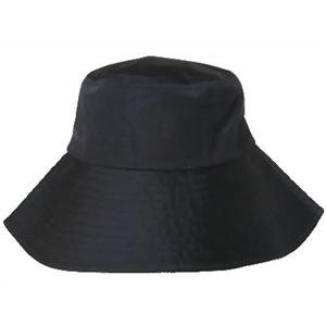 クールマックス 遮熱UVカットつば広帽子 ブラック - 拡大画像