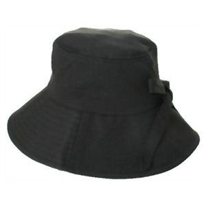 クールラピッド サイズ調整つば広帽子 ブラック - 拡大画像