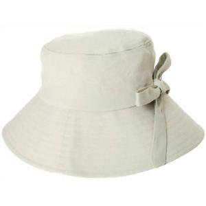 クールラピッド サイズ調整つば広帽子 ベージュ - 拡大画像