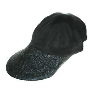 クールマックス たためるつば広帽子 ブラック - 拡大画像