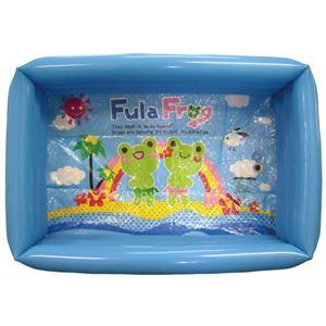 家庭用 ベビー角型プール ブルー