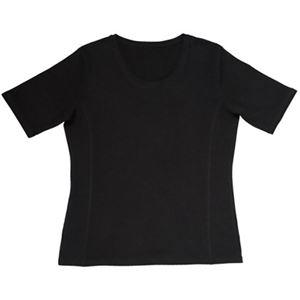 汗ジミ対策Tシャツ ブラック L