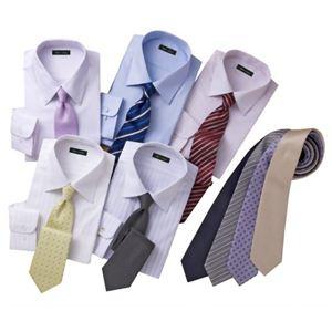 OLセレクト! Yシャツ5枚+ネクタイ9本 14点セット M - 拡大画像