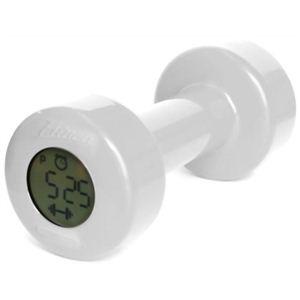 ベルソス ダンベルアラームクロック(目覚まし時計) ホワイト HA-3009 - 拡大画像