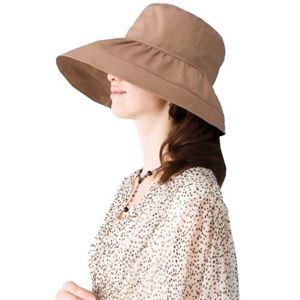 岡田美里プロデュース mili millie 日傘な帽子 ベージュ - 拡大画像