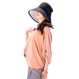 るるぶ 束ね髪すっぽり小顔帽子 ブラック - 拡大画像
