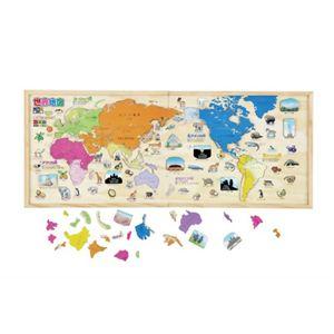 学研ステイフル 木製パズル 世界地図 - 拡大画像