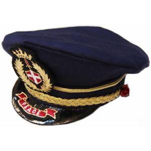 レディースにゃんパイロット帽子 ローズ - 拡大画像