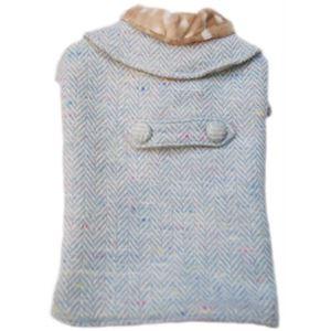 フィリップちゃんのお出掛け用ロングコート (ブルー) - 拡大画像