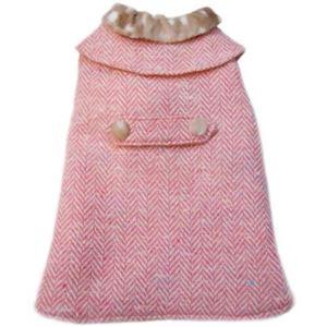 レイチェルちゃんのお出掛け用ロングコート (ピンク) - 拡大画像